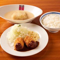 帆立貝のクリームコロッケとロールキャベツシチュー ¥1250税込